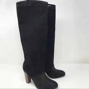 Diane Von Furstenberg Black Suede Boots Size 7.5